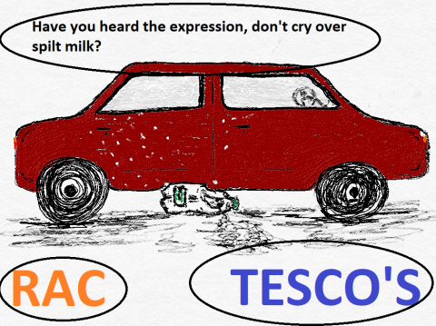 Have you heard the expression, don't cry over spilt milk?