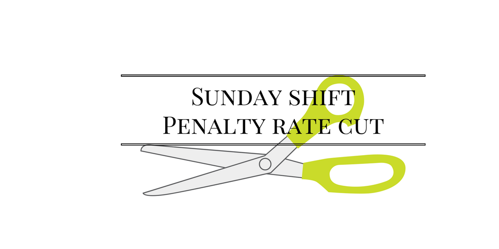 Sunday Shift - Penalty Rate Cut