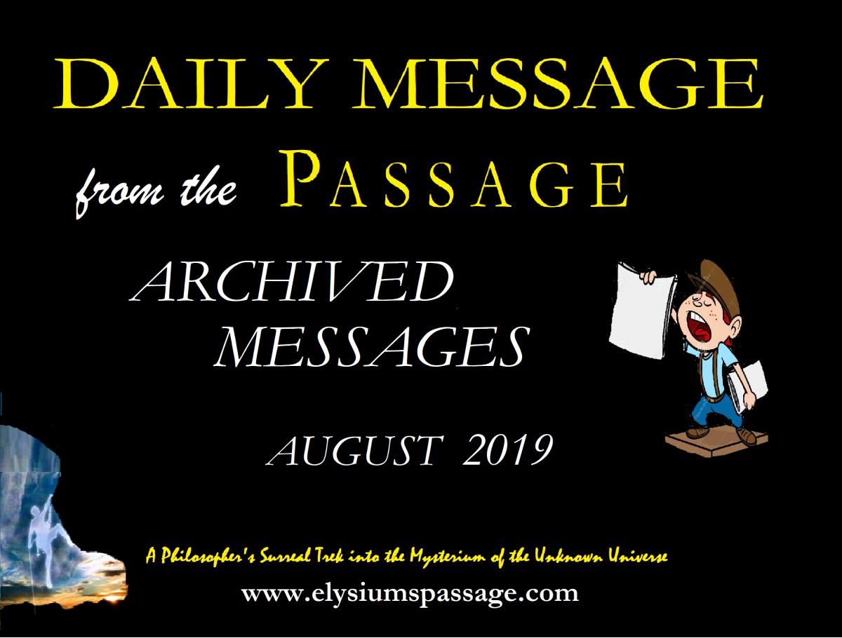 DAILY MESSAGE ARCHIVES AUGUST 2019