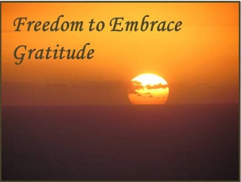 Freedom to Embrace Gratitude