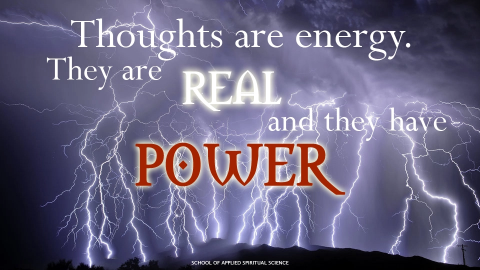 The power of thoughts and emotions