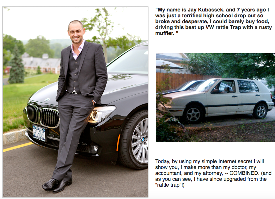 Jay Kubassek from beat up and broken down life and car to success