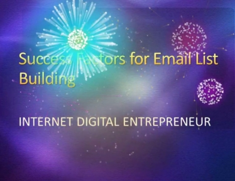 Free Offer - Success Factors for Email List Building (Video)