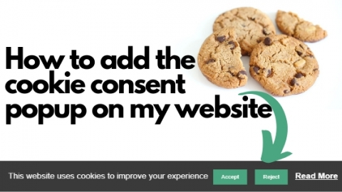 How to add the cookie consent popup on my website