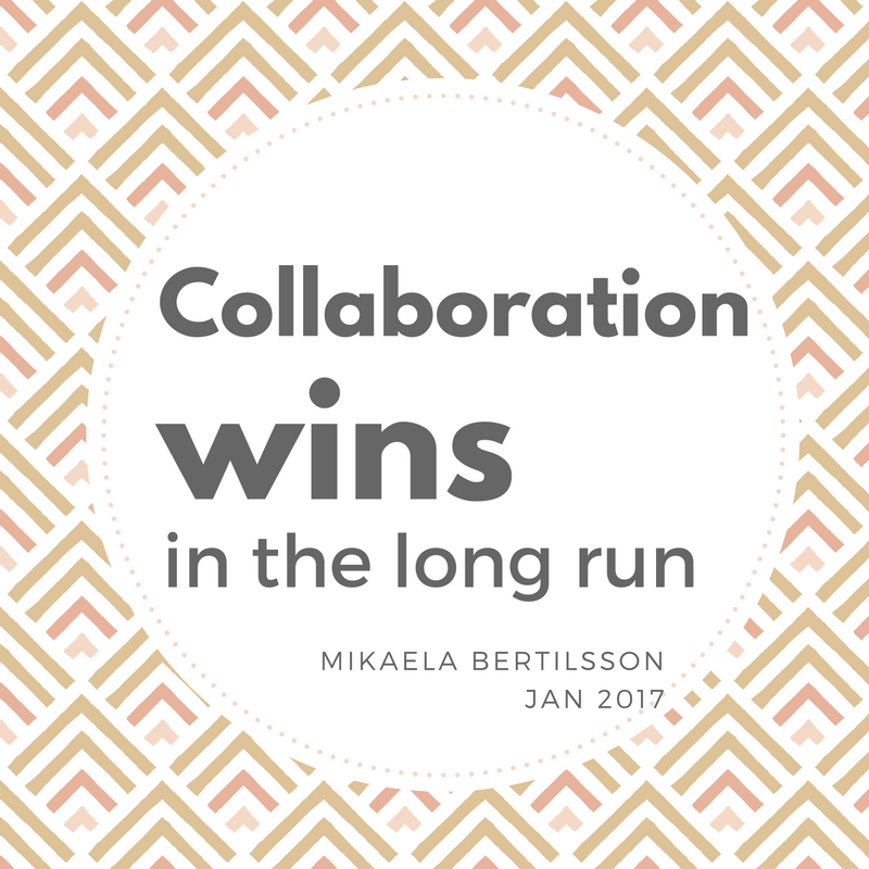 Collaboration wins in the long run