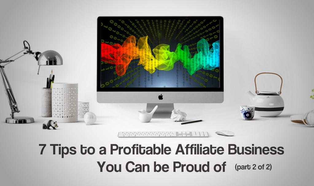 7 Tips to a Profitable Affiliate Business You Can be Proud of (part 2 of 2)