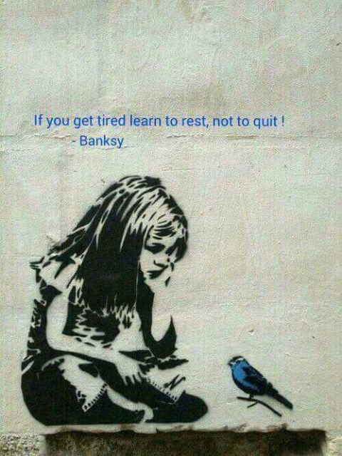 Not Quitting, Just Resting