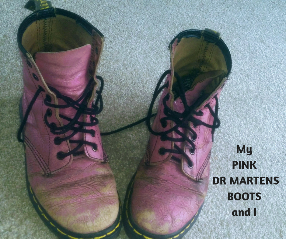 My PINK DR MARTENS BOOTS and I