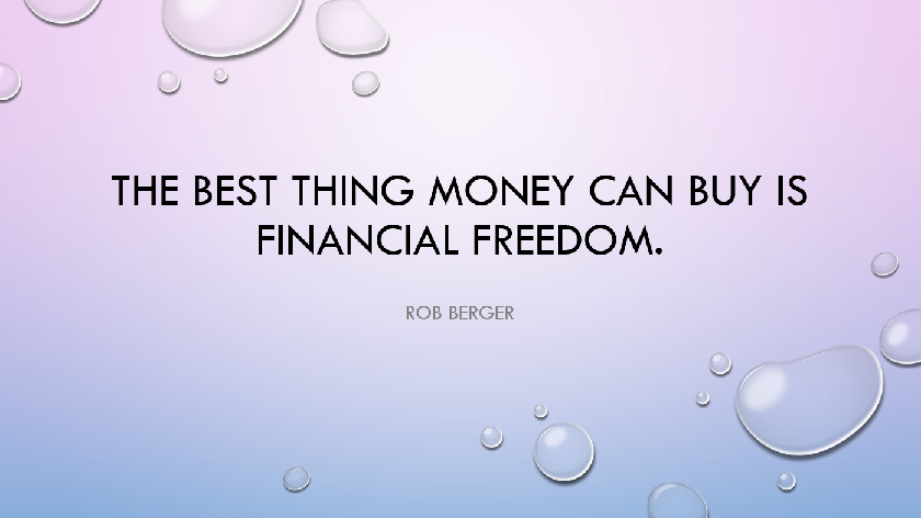 Financial Freedom, Mind Changing Thoughts