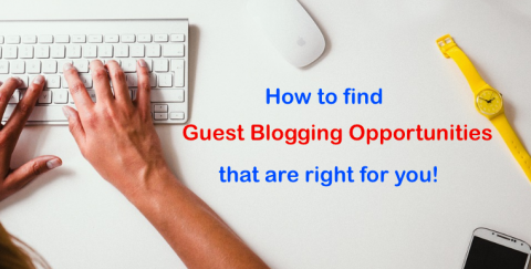 Guest Blogging Opportunities - how to find guest blogging sites right for you