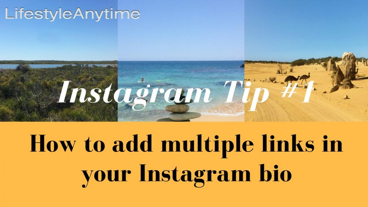 How to add multiple links to your Instagram bio.