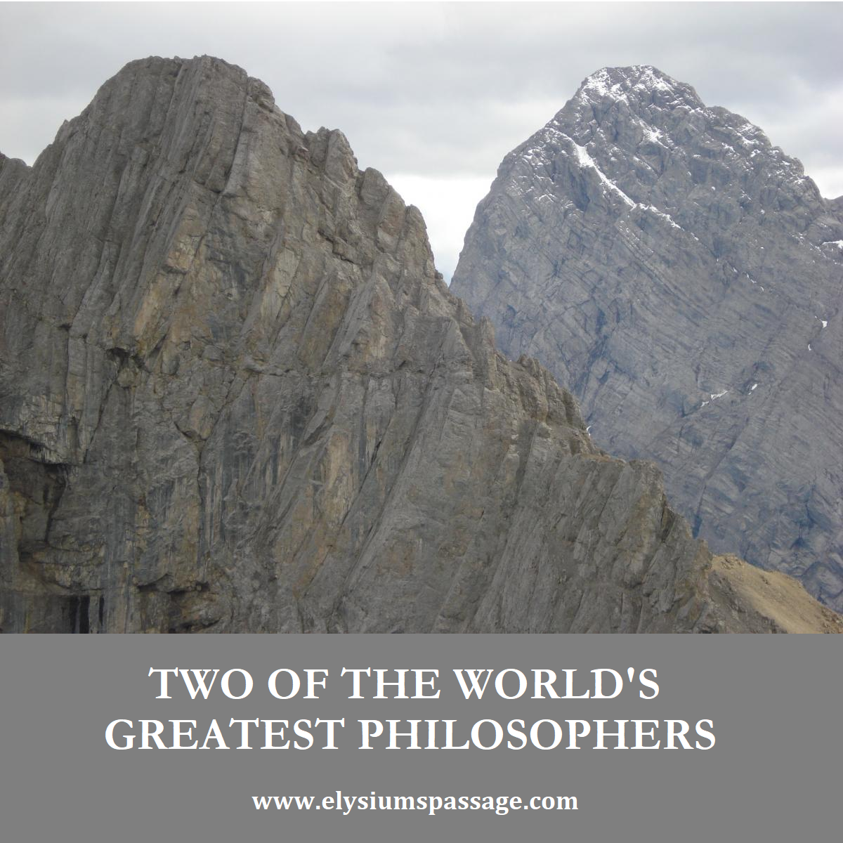 TWO GREAT PHILOSOPHERS PHILOSOPHERS DON'T KNOW ABOUT
