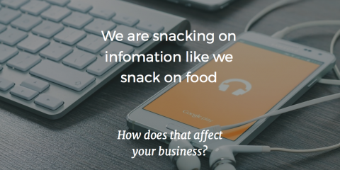 Snack size communication is changing the way we communicate