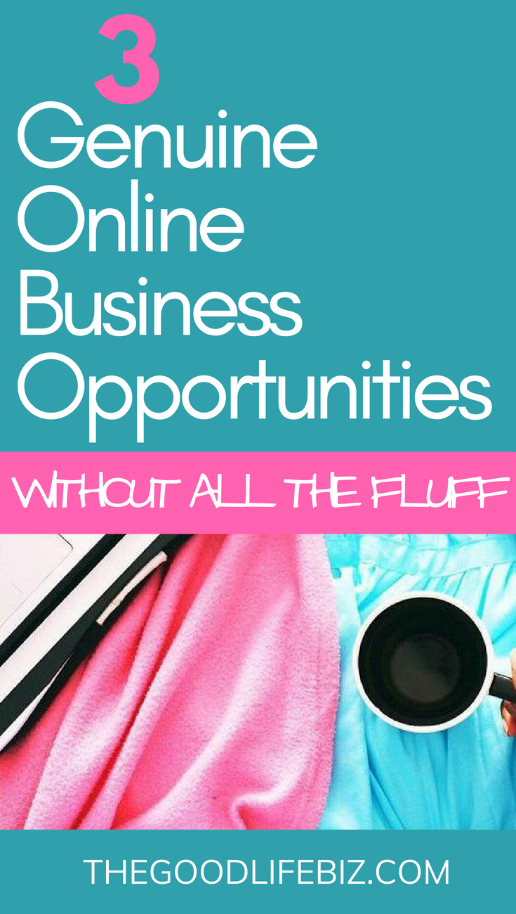 3 Genuine Online Business Opportunities Without the Fluff!