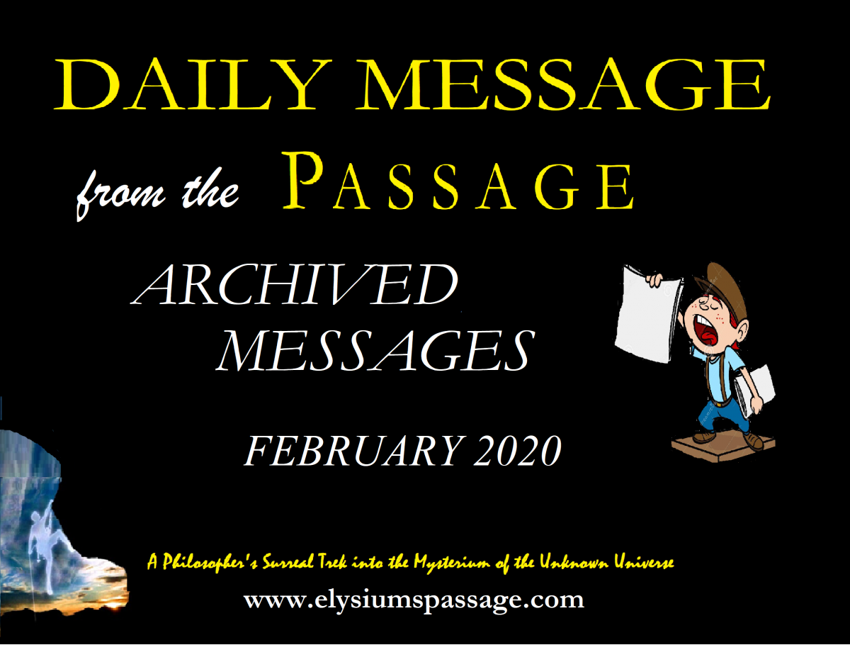DAILY MESSAGE ARCHIVES FEBRUARY 2020