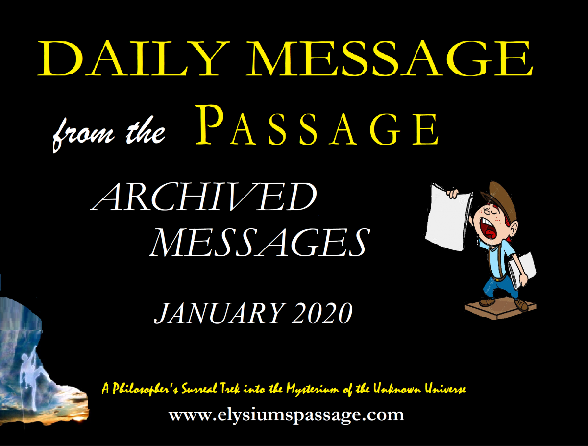 DAILY MESSAGE ARCHIVES JANUARY 2020