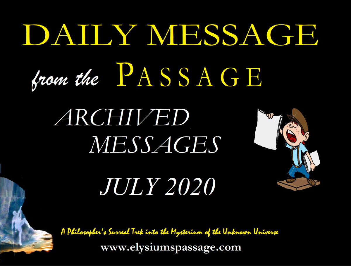 DAILY MESSAGE ARCHIVES JULY 2020