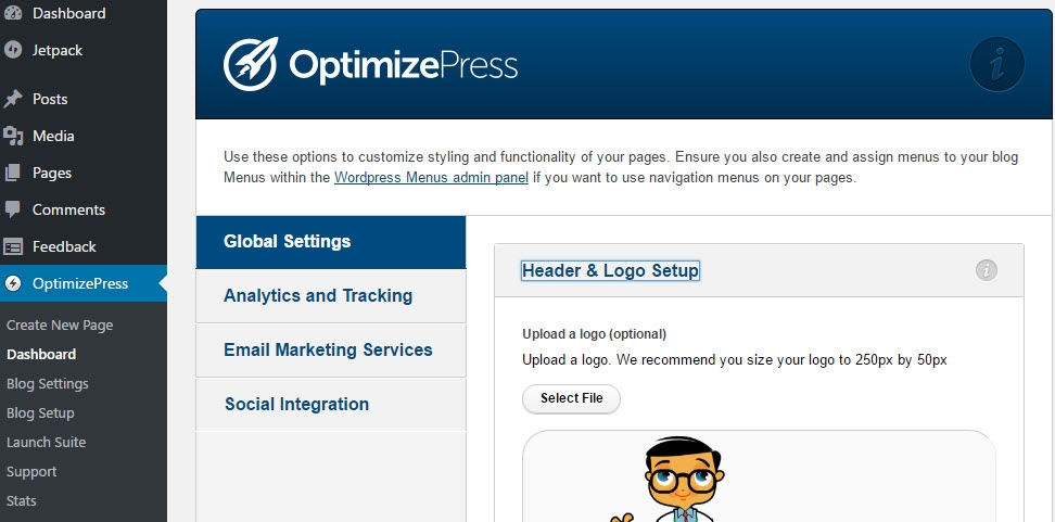 How To Add A Sitewide Logo In OptimizePress