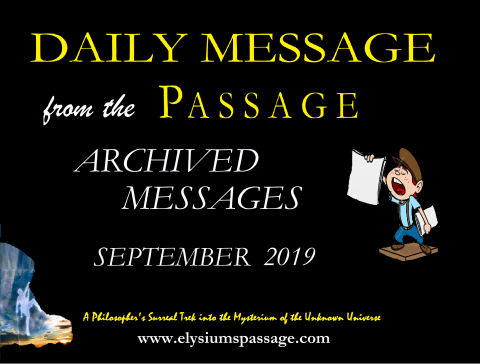 DAILY MESSAGE ARCHIVES SEPTEMBER 2019