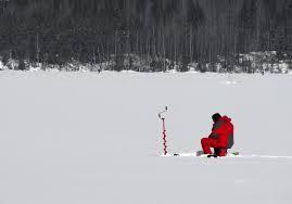 On line Marketing is like ice fishing.
