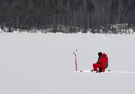 On line Marketing is like ice fishing.