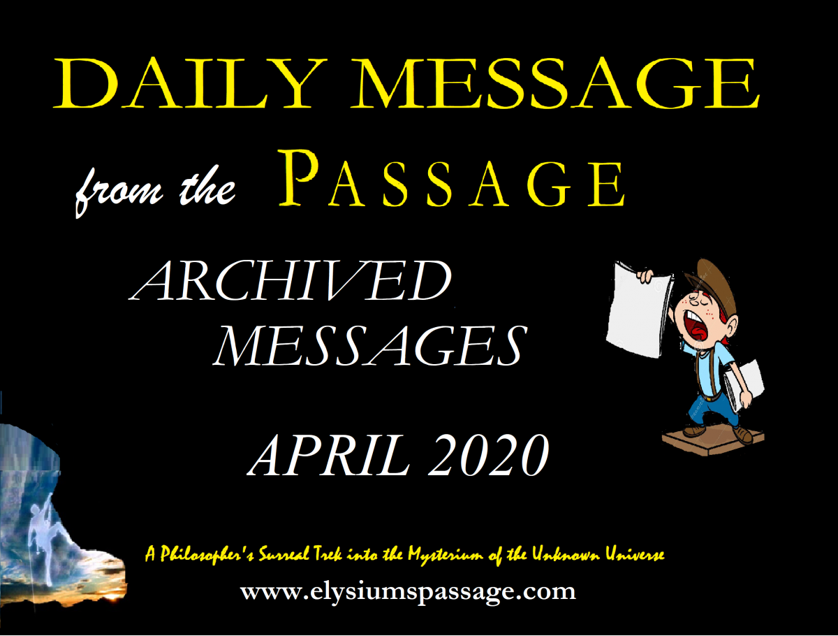 DAILY MESSAGE ARCHIVES APRIL 2020
