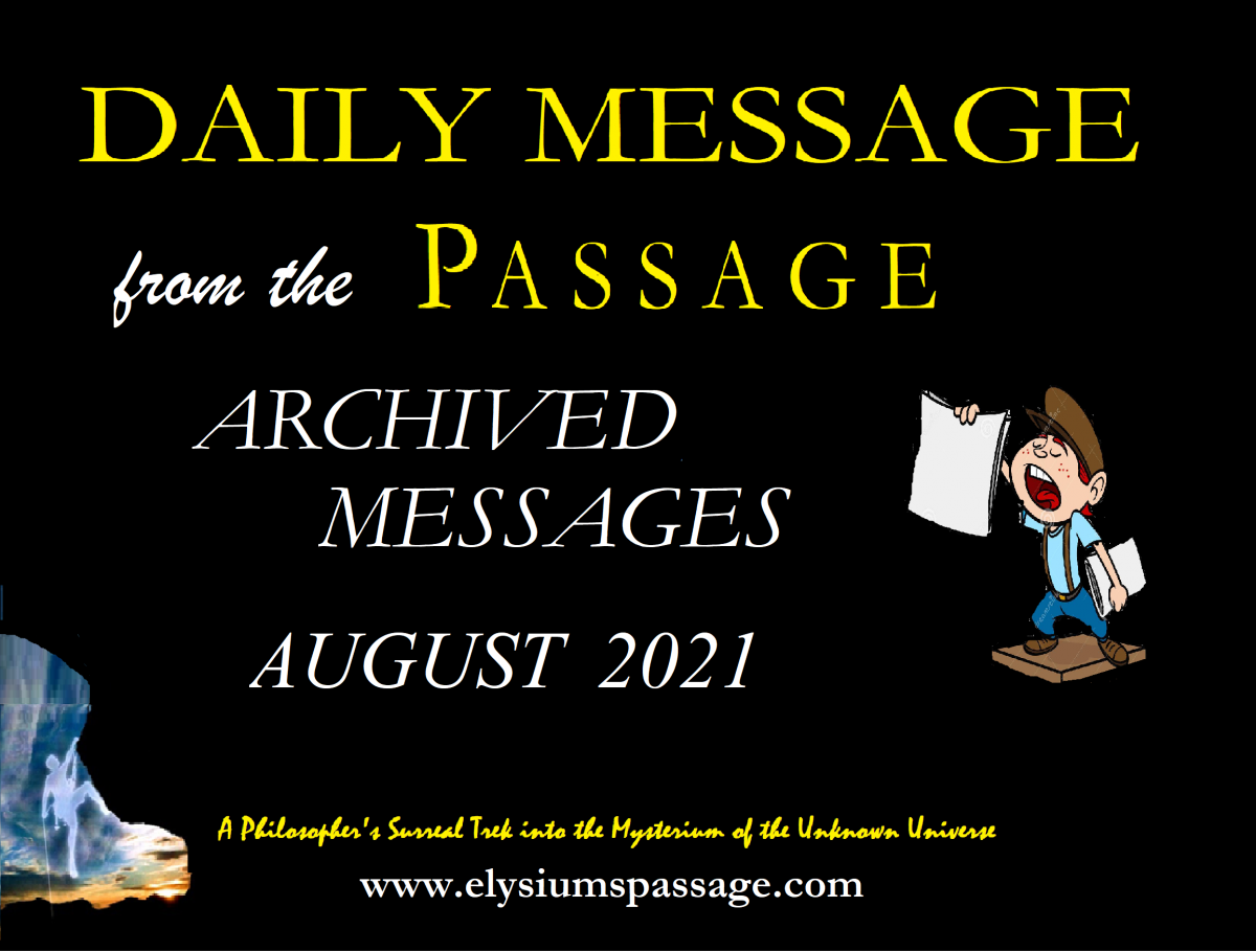 DAILY MESSAGE ARCHIVES AUGUST 2021