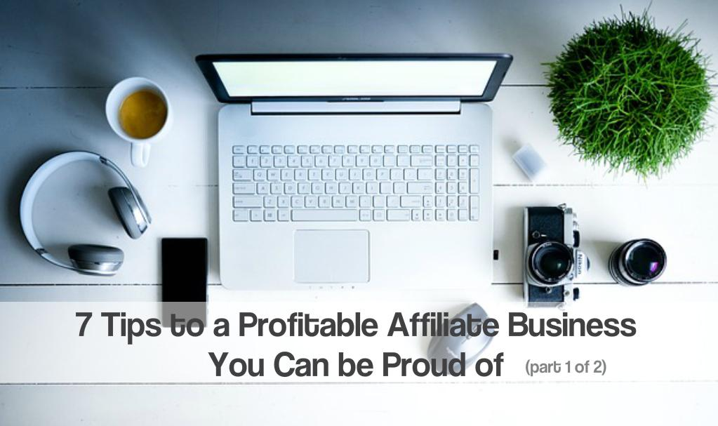 7 Tips to a Profitable Affiliate Business You Can be Proud of (part 1 of 2)