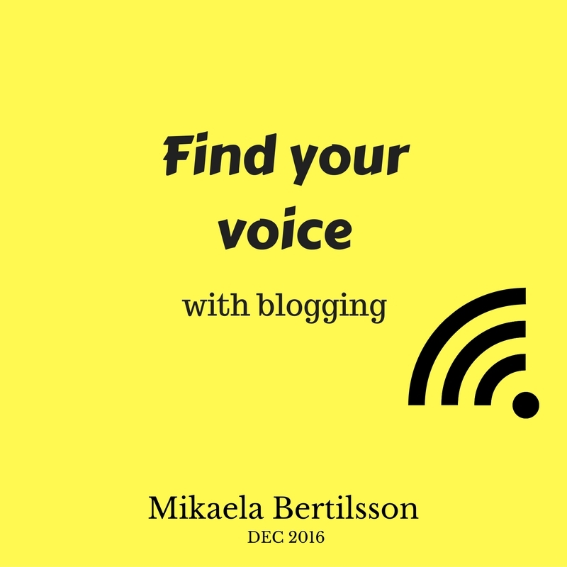 Find your voice online with blogging