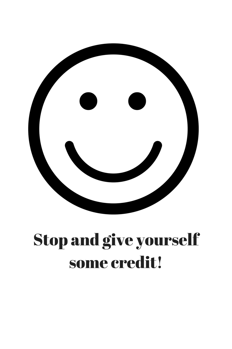 connection, phenomenal, stop and give yourself some credit, make a difference, feel good about yourself