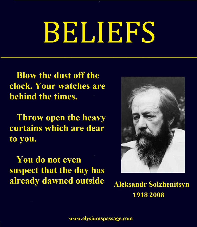 BELIEFS!
