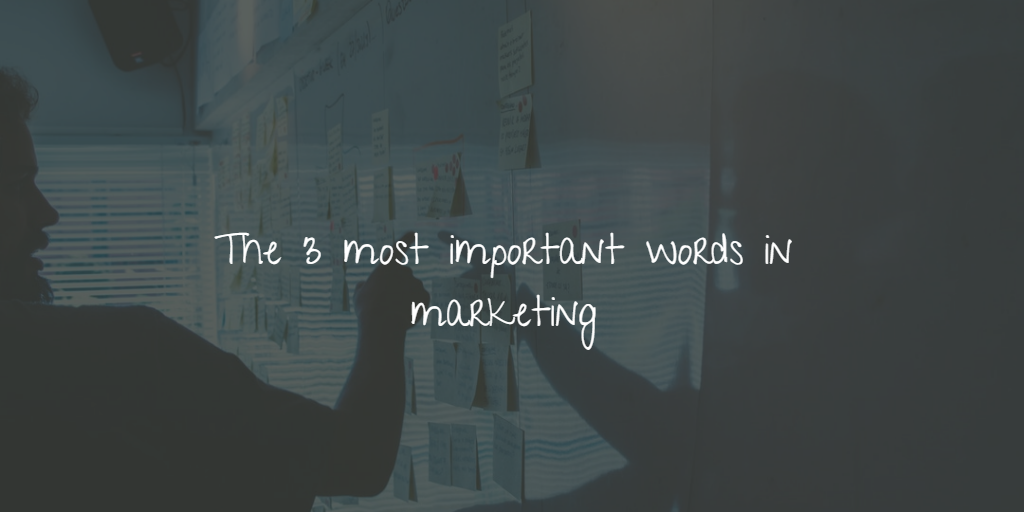 The 3 most important words in marketing