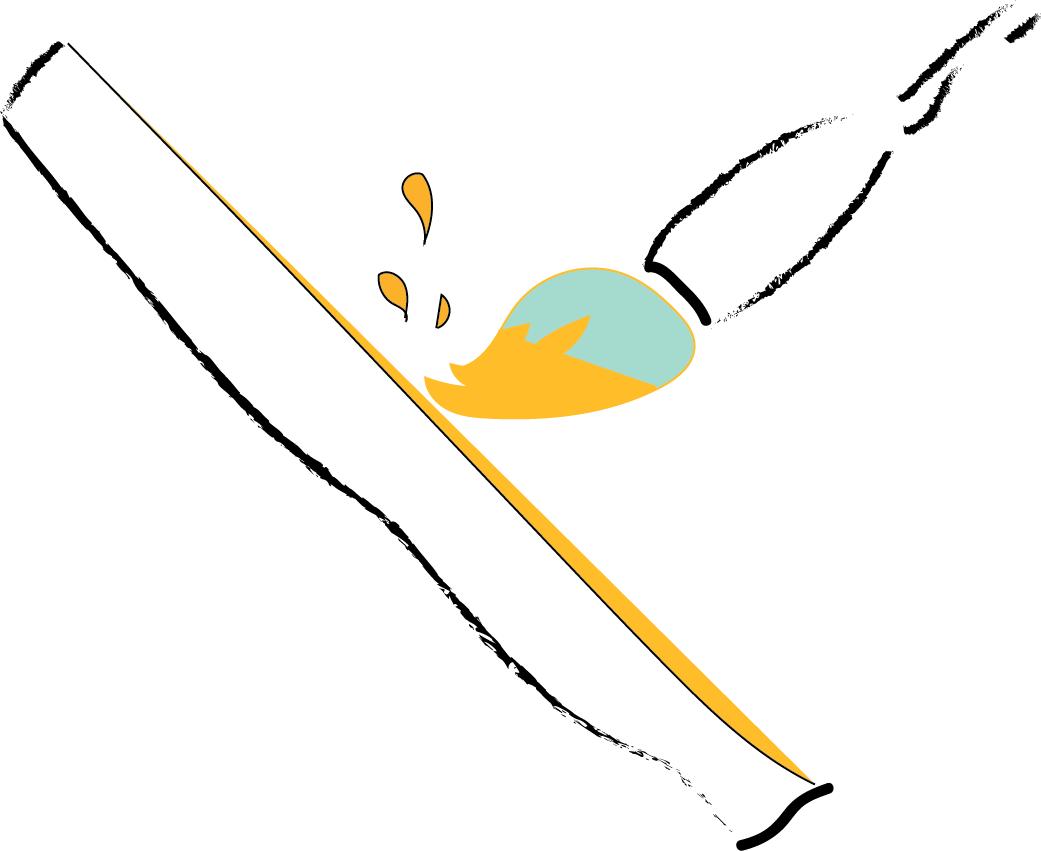 Two types of egg tempera emulsion