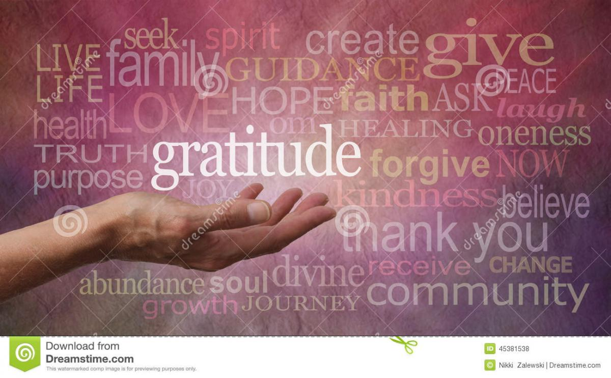 Gratitude and Happiness as Ingredients for success