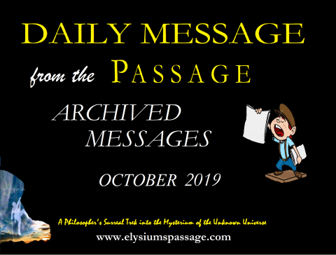 DAILY MESSAGE ARCHIVES OCTOBER 2019