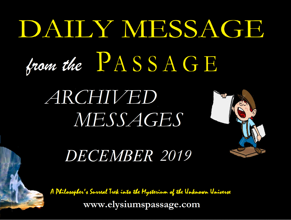 DAILY MESSAGE ARCHIVES DECEMBER 2019