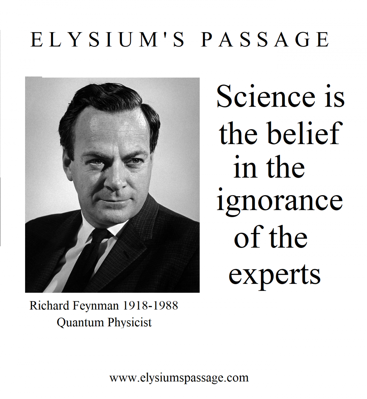 SCIENCE AND THE EXPERTS