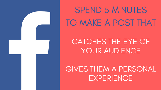 Make catchy Facebook posts in 5 minutes